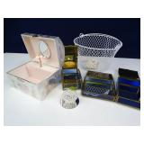 Angelic Jewelry/Music Boxes, Basket & Small +
