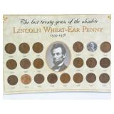 Lincoln Wheat-Ear Penny Set: 1939 - 1958