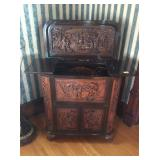 Antique Wood Carved Bar