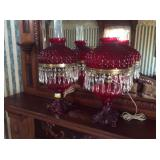 Ruby Red Lamps
