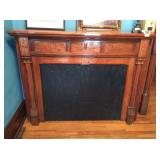 Old Wood Fireplace Mantle