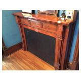 Old Wood Fireplace Mantle - architectural salvage