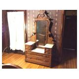 Antique Vanity - Marble Top
