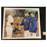 RARE - Yankees Autograph with Jeter, Rivera and Pettite