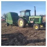 John Deere Tractor & Bailer