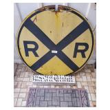Old Rail Road Crossing Sign