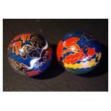 Chinese Cloisonne Jingle Balls