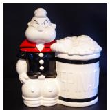 Ceramic Popeye Cookie Jar