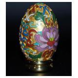 Franklin Mint Cloisonne Porcelain Egg