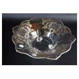 Silver Inlay Footed Bowl