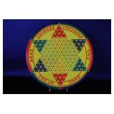 Vintage Metal Chinese Checkers