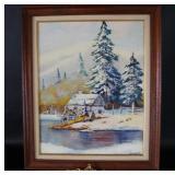 Original Oil on Board Artist E. Nicholas