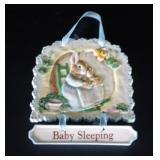 """Beatrix Potter """"Baby Sleeping"""" Door Sign"""