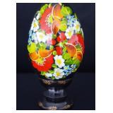 Ukranian Wood Hand Painted Egg