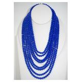 Sterling Silver & Lapis Lazuli  Necklace 242.40 gr