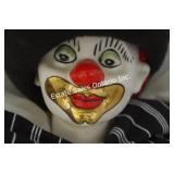 Hand Painted Porcelain Clown Signed by Artist