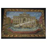 Trevi Fountain Jacquard Woven Tapestry