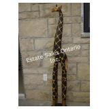 """Wood Giraffe  Home Décor 59.5"""" High"""
