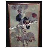 Robert Owen Clown Print in Frame
