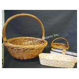 Wicker & Reeded Basket Collection