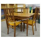 Mid Century Solid Teak Table & Chairs