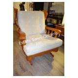 Vintage Maple Windsor Style Glider Chair