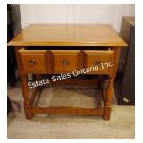 Vintage Vilas Maple Wood End Table