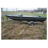 16ft Aluminum Boat, 9.9 Nissan Motor & Trailer