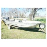 16ft Lowe Aluminum Boat with Force 70HP Motor