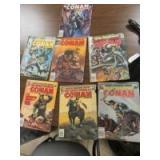 7 CONAN THE BARBARIAN COMIC BOOKS - OF