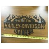 METAL HARLEY DAVIDSON SIGN - OF