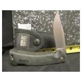 BUCK SINGLE BLADE KNIFE WITH SHEATH - OF