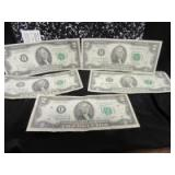5 - 2 DOLLAR FEDERAL RESERVE NOTES
