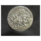 THE BATTLE OF NEW ORLEANS COLLECTORS STERLING COIN