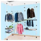 Telescopic Wardrobe Closet Wash Organizer Unit