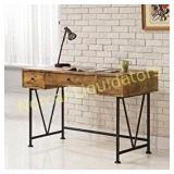 Glavan 3-Drawer Writing Desk with Antique Nutmeg