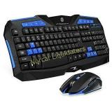 Picktech F1 Wireless Keyboard Mouse Combo, 2.4GHz