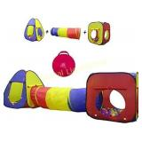 Kiddey 3pc Kids Play Tent Crawl Tunnel and Ball