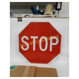 "18"" 1-sided STOP sign, decor(non-reflective)  new"