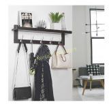 Bamboo Entryway Wall Shelf Hanging Shelf Coat