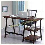 Soges Computer Desk Trestle Desk Writing Home