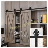 7ft Double Door Cabinet Barn Door Hardware Kit-