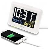 ZHPUAT Digital Alarm Clock Auto Brightness, Both