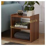 GreenForest 3-Tier Bedside Table Wood Organizer
