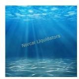 6x8ft Vinyl Deepwater Blue Ocean Underwater