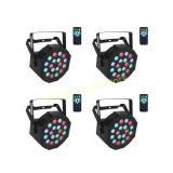 Stage Par Lights with Remote 18x1W LED Par