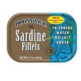 BRUNSWICK Sardine Fillets in Spring Water, No