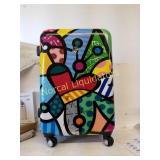 """*Suitcase  25"""" x 16"""" preowned broken handle"""