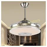 reiga 44-inch Silver Modern Ceiling Fan