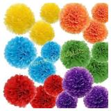 tissue paper pom poms. 40+ pieces. No info